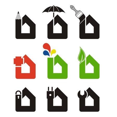seguridad laboral: Iconos de Inicio Vectores