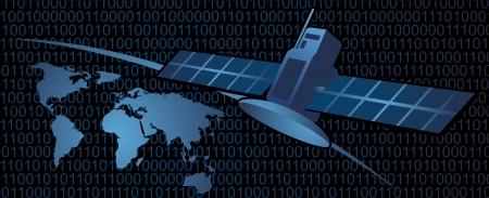 グローバル衛星通信  イラスト・ベクター素材