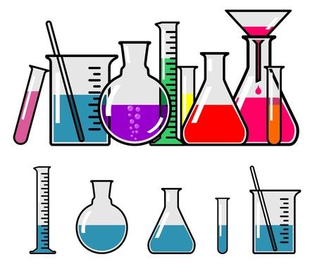 beaker: De vidrio para laboratorio