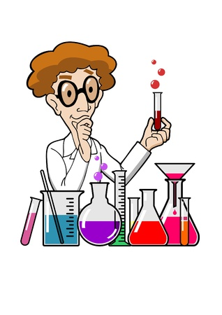 Scientist in laboratory Vector