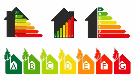rating: Energy efficiency concept in home