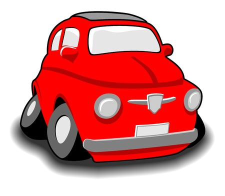 car isolated: Red funny car isolated