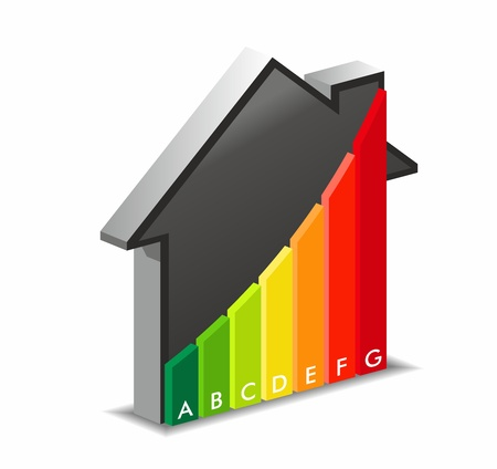Energy efficiency in home Illustration