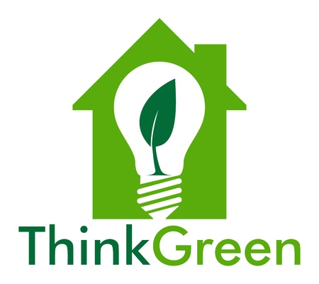 Think green in the house Stock Vector - 20279086