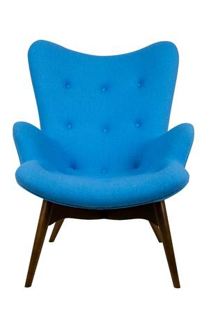 modern blue chair in scandinavian style