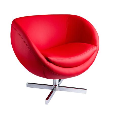 Modern red armchair Standard-Bild