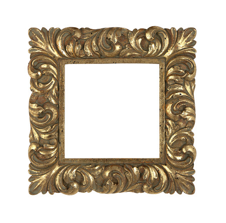 Golden square vintage frame