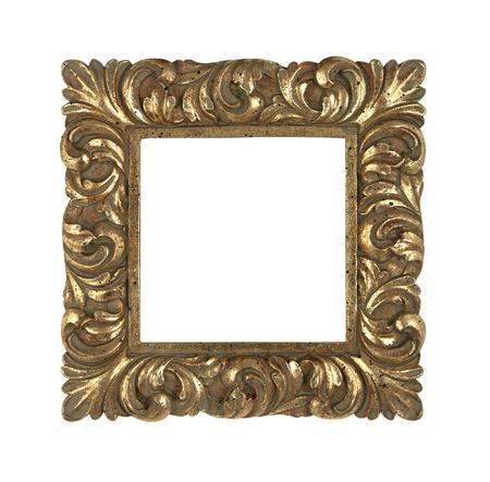 Golden square vintage frame