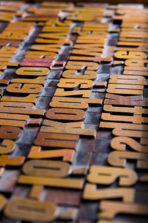 Old printing types
