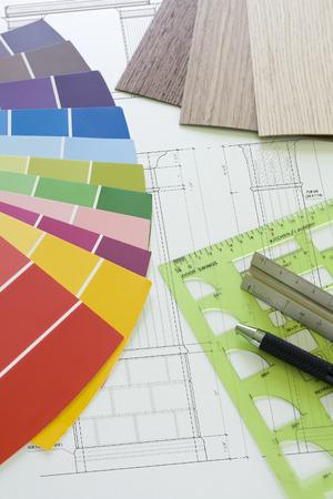 Worktable interior design and decoration