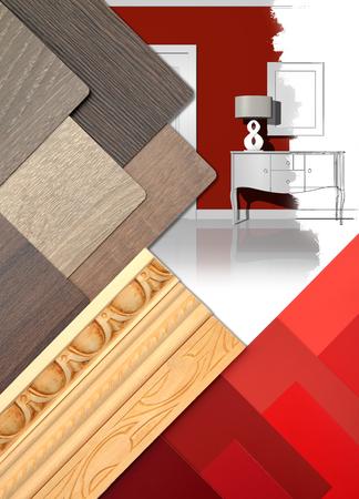 Interior design work table concept