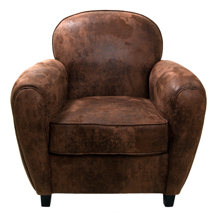 Leather armchair isolated