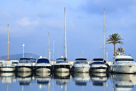 Marina boats and yachts