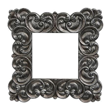 Square vintage silver frame