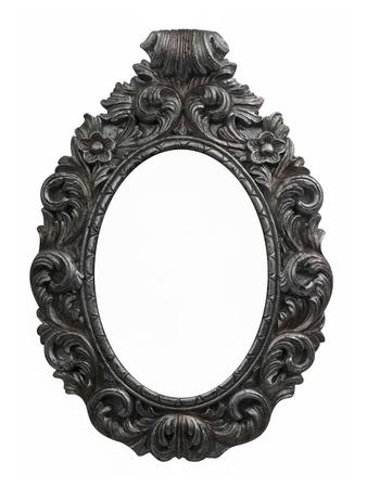 Oval vintage silver frame Zdjęcie Seryjne
