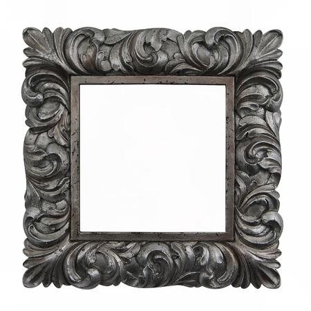 Vintage silver frame Zdjęcie Seryjne