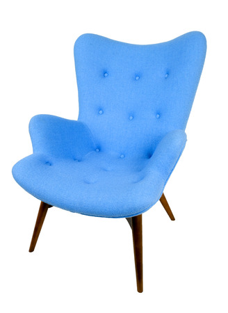 Scandinavian armchair in blue Stock fotó