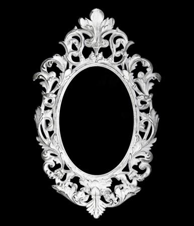 Vintage oval silver frame