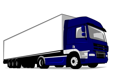 Cargo Delivery Truck Isolated Illustration