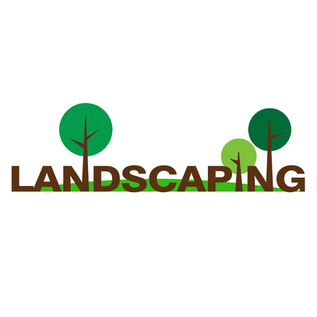 Logo for landscaping and gardening company Illustration