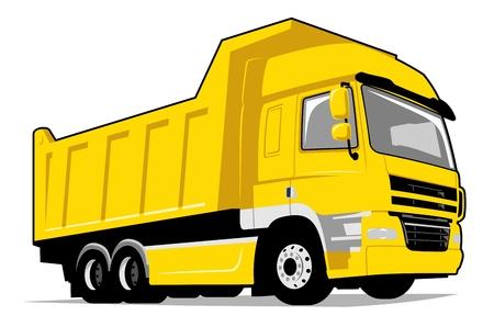 Camion benne jaune