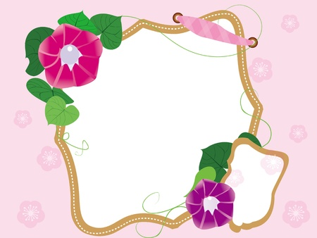 Baby scrapbook flowers  Vector