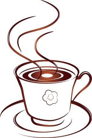 Cup  mug  of hot coffee