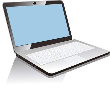 Иллюстрация ноутбук, изолированных на белом фоне