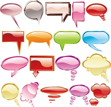 Collection of colorful speech 1 Vector
