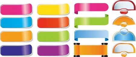 adhesive: Set de papel, aislada en el fondo blanco Vectores