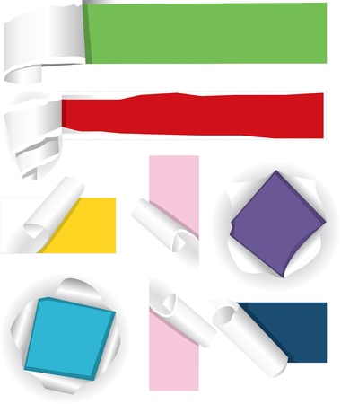 Collection of color paper Vector