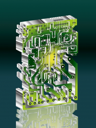 electronic components: Seamless industrial background with circuit board,