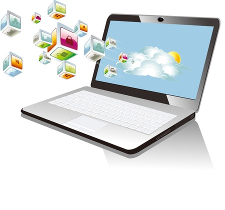 Illustration of laptop  Vector