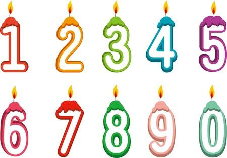 Beautiful figures candles design Stock Vector - 15957301
