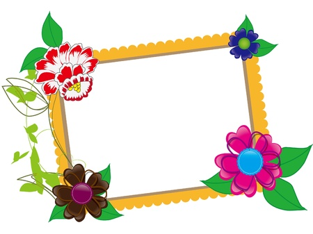 Baby scrapbook with flowers  Vector
