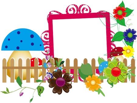 margriet: Babyplakboek voor het hek, bloemen en champignons
