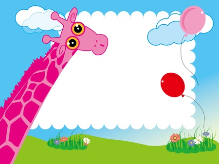 giraffe frame:  framework Illustration