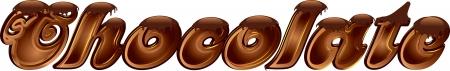 Chocolate word  Illustration
