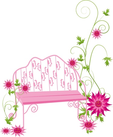 garden chair: sunflowers and the princess chair in park