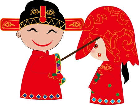 chinese wedding Stock Vector - 16136881