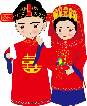 asian couple: chinese wedding