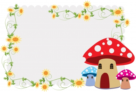 Children s album, including the beautiful flower and mushroom house