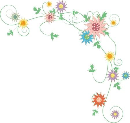 Fleurs Fantaisie fond beau jardin