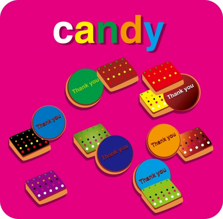 CANDIES CHOCOLAT SWEET Stock Vector - 16298310