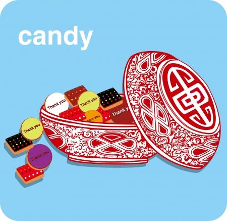 CANDIES CHOCOLAT SWEET Stock Vector - 16298305