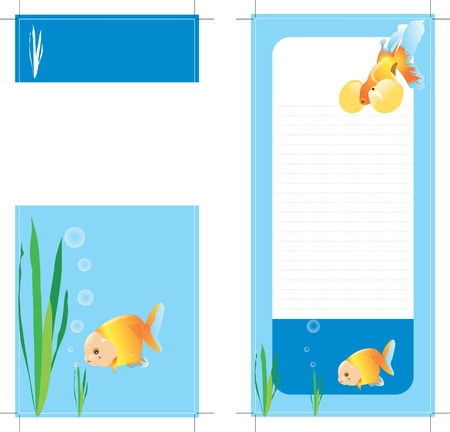 aquaculture: posterL letterheadpaper card framewor