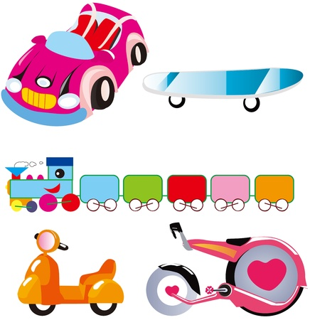land transport set Vector
