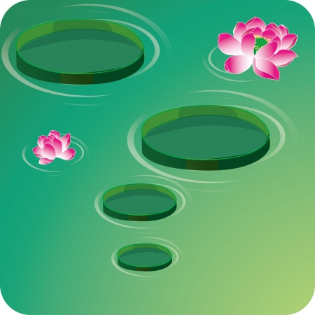 Lotus flowers Illustration