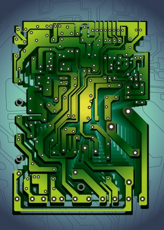 computer hardware: technology abstract with circuit board texture Illustration