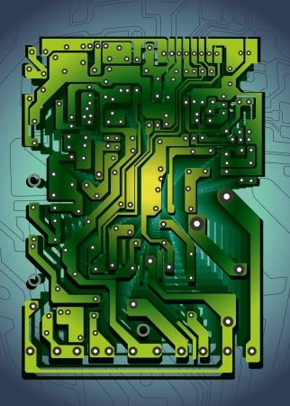 circuito electrico: tecnología abstracta con textura tablero de circuito